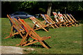 TQ2652 : Deckchairs on Reigate Hill, Surrey by Peter Trimming