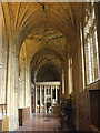 ST6316 : South aisle, Sherborne Abbey by nick macneill