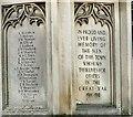 SK2168 : Bakewell War Memorial (details) by Gerald England