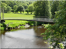 SH7956 : Afon Conwy Suspension Bridge, Betws-y-Coed by David Dixon