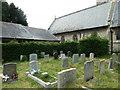 SU4410 : Holy Trinity- gravestones by Basher Eyre