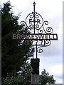 TM3050 : Bromeswell Village Sign by Adrian Cable