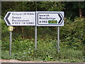 TM3050 : Roadsigns on the A1152 Orford Road by Adrian Cable