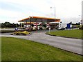 SJ4674 : Chester Services, Petrol Forecourt by David Dixon