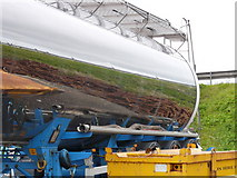 ND1559 : Tanker reflection at Georgemas Junction by sylvia duckworth