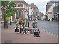 TA0257 : Street Entertainment - Market Place by Betty Longbottom