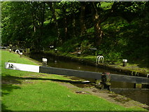 SD9726 : Rawden Mill Lock on the Rochdale Canal by John H Darch