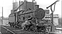 TQ2182 : An oil-burning 'Castle' 4-6-0 refuelling at Old Oak Common Locomotive Depot by Ben Brooksbank