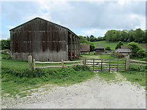 TQ2711 : Farm Buildings at Saddlescombe by Chris Heaton
