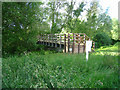 SU6860 : Footbridge over the Loddon by Sandy B