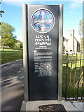 NZ4057 : Information board for St Peter's Church, Monkwearmouth by Alexander P Kapp