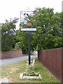 TM2442 : Bucklesham Village Sign by Adrian Cable