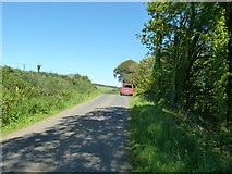 NX0983 : B7044 Mains Road to Knockdolian by Andy Farrington