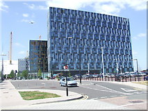 TQ3979 : Office blocks at North Greenwich by Malc McDonald
