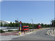 TQ3979 : West Parkside and Pilot Busway, North Greenwich by Malc McDonald