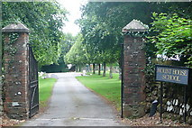 SX4975 : Gates to Mount House School by Graham Horn
