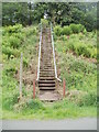 SO2601 : Steps up from a footpath and cycleway, Pontypool by Jaggery