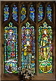 SD9772 : Holdsworth Window, St Mary's Church Kettlewell by Rob Burke