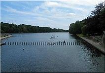 SE3337 : Waterloo lake Roundhay Park Leeds by Steve  Fareham
