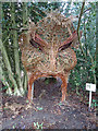 TL9335 : Wicker Sculpture at Arger Fen by Roger Jones