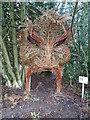 TL9335 : Wicker Sculpture at Arger Fen by Roger Jones
