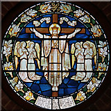 TQ3377 : St George, Coleman Road, Camberwell - Stained glass window by John Salmon