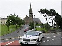 J4844 : A wedding party leaving St Patrick's Catholic Church, Downpatrick by Eric Jones