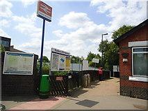 TQ1585 : Entrance to Sudbury Hill Harrow railway station by Stacey Harris