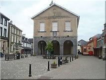 SN7634 : Old Market Hall, Llandovery by Jaggery