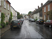 ST6601 : Long Street, Cerne Abbas, in the wet by Alex McGregor