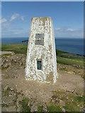 SH7683 : Triangulation pillar on the summit of the Great Orme, Llandudno by Meirion