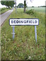 TM1967 : Bedingfield sign by Adrian Cable