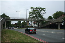 TQ1979 : Pedestrian footbridge, Gunnersbury Avenue, W3 by Phillip Perry