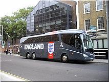 TQ2677 : England Coach in Fulham Road, Chelsea by PAUL FARMER