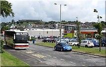 J4844 : Car and bus park behind Market Street, Downpatrick by Eric Jones