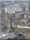 SJ3589 : Liverpool: St. Luke's church from cathedral tower by Chris Downer