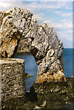 SH4094 : Natural Sea Arch, Porth Wen by David Dixon