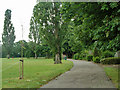 TQ5489 : Path in Harold Wood Park by Robin Webster