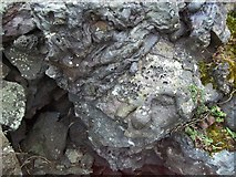 NS0853 : vitrified rock by rod collier