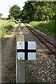 TG2919 : Bure Valley Railway warning sign by Glen Denny