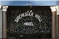 "TQ2887 : ""Winchester Hall Hotel"" sign in wrought iron by Julian Osley"