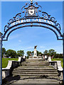 SJ9499 : Memorial Gardens and War Memorial, Ashton-Under-Lyne by David Dixon