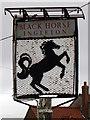 NZ1720 : Sign for the Black Horse by Maigheach-gheal