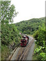 SH5848 : Welsh Highland Railway train pulling out of Beddgelert Station by David Tyers