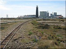 TR0916 : Railway line to Dungeness Station by David Anstiss