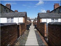SU1484 : Back alley, Swindon Railway Village by Marathon