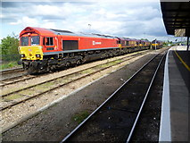 SU5290 : Four diesel locomotives at Didcot Parkway by Marathon