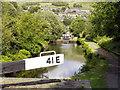 SE0411 : Huddersfield Narrow Canal, Marsden Locks by David Dixon