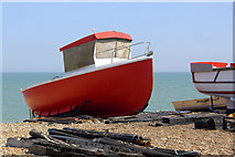 TR3752 : Red Boat on the Beach, Deal by Cameraman
