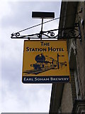 TM2863 : The Station Public House sign by Adrian Cable